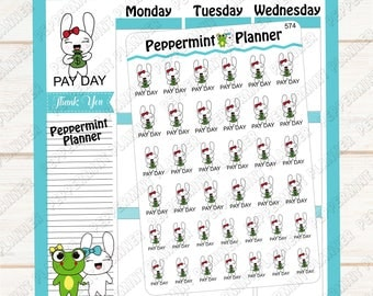 Jellybean pay day --- hand drawn planner stickers --- 574