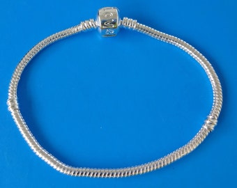 2 Silver Plated Snake Bracelet Chain Fit Pandora Beads