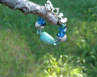 Stackable Baby Bracelet- Blue, Silver
