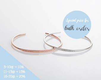 Delicate Custom Coordinates Bracelets, Coordinates Cuff, Engraved Cuff Bracelet, Personalized Latitude Longitude Jewelry, Mothers Day Gifts