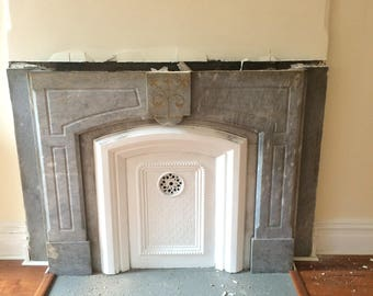 1880's Grey Marble Mantle (16P)
