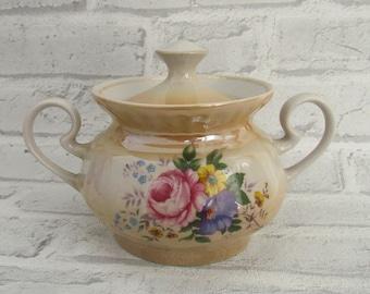 Serving Odds mid century modern sugar bowl Vintage bowl Retro Kitchen Decor Serving Piece Sugar Pot stoneware 1980' Porcelain