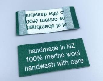 custom end fold label, end fold clothing labels, end fold woven label, end fold sew in labels