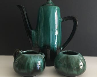 Vintage Blue Mountain Pottery Coffee Set/Canadian Pottery