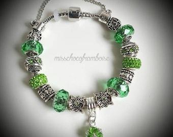 Green pandora style bracelet