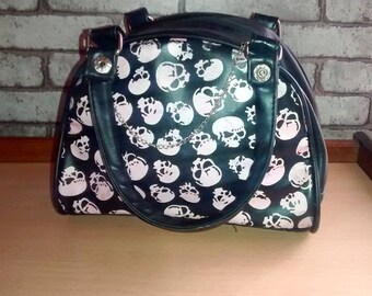Tote bag handbag punk emo skulls skulls riot grrrl