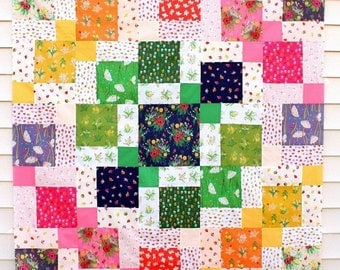 Meadow Walk Quilt Kit featuring Sleeping Porch by Heather Ross