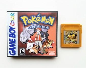 Pokemon Brown Version w/ Custom Case - Nintendo Game Boy (GBC GBA) -(English Fan Made Hack) Gameboy