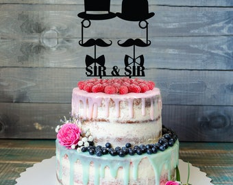 Customizable Gay Wedding Cake Topper, Same Sex Cake Topper, Gay Cake Topper, Gay silhouette, Homosexual Wedding, Cake Topper For Men, gift