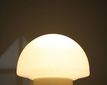 Small mushroom table lamp - vintage opaline mushroom lamp - night table lamp  - glass table