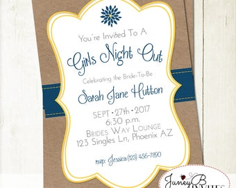 Girls Night Out Invitation, Bachelorette Party Invite, Girls Night Invitation