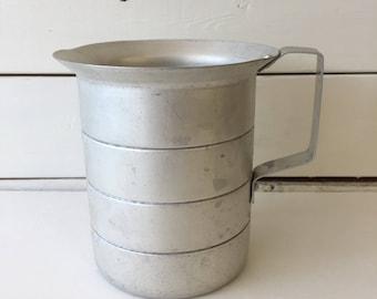 Vintage 1960's silver measuring cup