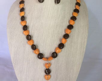 Fall Necklace Earring Set