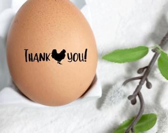 Egg Stamp - Thank you Stamp - Chicken Stamp - Fresh Eggs - Custom Egg Stamp - Egg Carton - FarmhouseMaven
