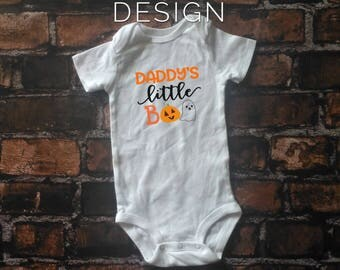 Daddy's Little Boo - Mommy's Little Boo - Halloween - Baby Bodysuit