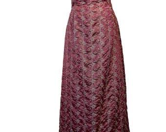 Vintage 90's Jessica McClintock Strapless Evening Dress