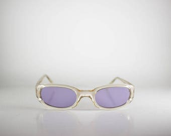 Vogue VO2215-S 49-22 1034/5 Made in Italy  Unisex 49-22-128 Vintage Sunglasses Purple Plastic NOS/Deadstock-FREE SHIPPING-VOGS160M-1