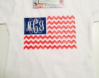 Monogrammed American Flag Shirt