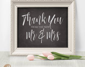 Thank You Sign, Wedding Reception Sign, Wedding Thank You, Chalkboard Sign, printable template, high-resolution PDF, 8x10 #PTL1_01_28