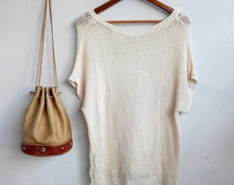 Crocheted Lace Top/ Japanese Vintage Style