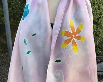 Light Pink Floral Scarf