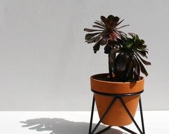 Mini Tri Plant Stand in Black