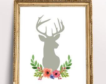 Watercolor flowers print, PRINTABLE art, Wall art, Initial decor, Home decor, Fashion print, Trendy wall art, Wall prints, Watercolor prints