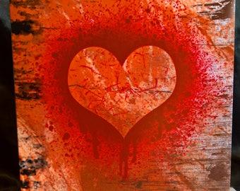Grunge Style - Valentine Card