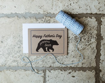 Poppa Bear - Father's Day Card