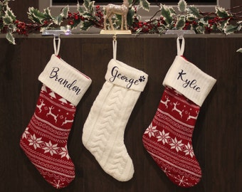 knitted stockings cotton knit stockings custom name stocking color stockings christmas