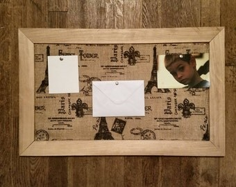Pallet Wood Cork Board/ Paris