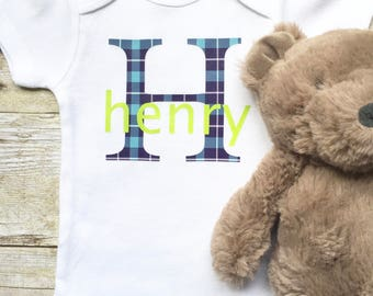 Monogrammed Baby Onesie,Personalized Baby Onesie,Custom Baby Clothes,Monogrammed Baby Shirts,Newborn Onesie,New Mom Gift,Monogrammed Baby