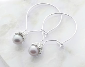 -Cumulus - Pearl Earrings - sterling silver