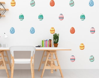 24 Easter Egg Wall Stickers