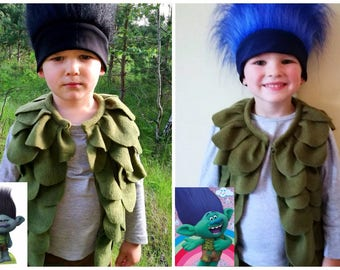 Branch costume / Trolls costume / Kids trolls costume / branch dress up / trolls dress up / handmade costume / Halloween costume