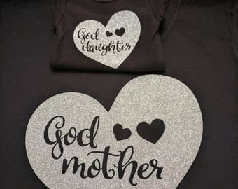 Godmother Goddaughter Matching Shirt Set - Goddaughter Gift - Godmother Gift - Goddaughter Shirt - Godmother Shirt - Gift for Goddaughter