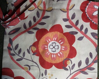 Floral Retro Cotton Tote Bag