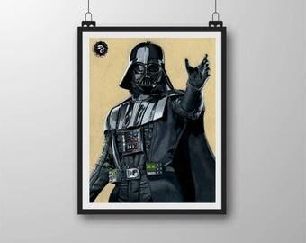 Darth Vader - A4 Matte Print
