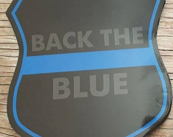 BACK THE BLUE vinyl decal