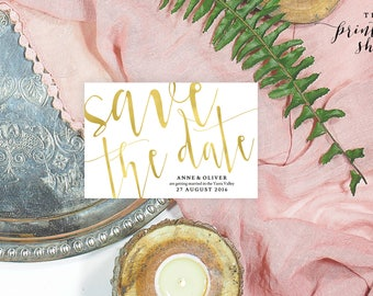 Gold save the date template, Printable save the date gold, Editable save the date cards, Gold wedding stationery, Save the date rustic