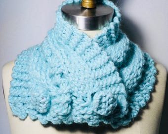 Crochet Neck Warmer Green Pastel