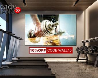 Gym Wall Art, Powerlifting Sports Motivational Wall Art, Bodybuilding Canvas Print, Motivation Wall Art, Gym Decor, Home gym decor, Gym Art