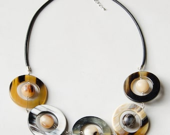 "Horn necklace ""Planets"""
