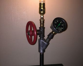 Steampunk desk/table lamp