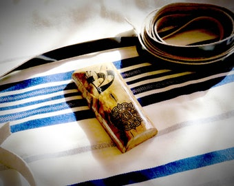 Olive tree Mezuzah small size from Israel