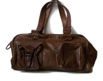 Vintage Leather Bag, Leather handbag, Brown leather bag, Leather shoulder bag, retro leather bag, brown leather bag, brown bag