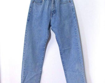 Buffalo 1980s 27 /4 High Waist, Faded Light Wash, Mom Jeans, Soft Denim, Straight Leg, 1990s Jeans 27 x 31
