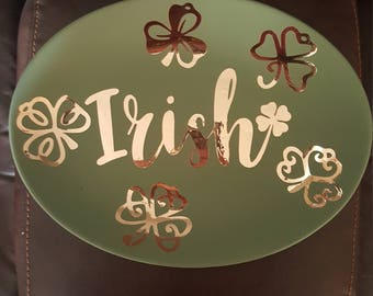 Irish Shamrock Decorative Plate