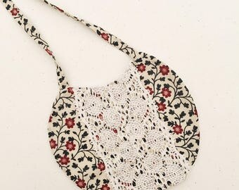Floral lace  Bib for your little Darling