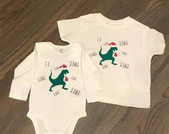 Fa rawr rawr Christmas onesie or shirt/ First Christmas shirt/ Dinosaur Christmas shirt/ Funny Christmas shirt for kids/ Funny dinosaur